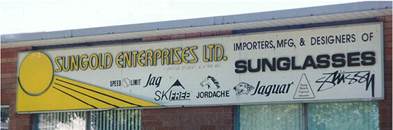 Sungold Enterprise sign